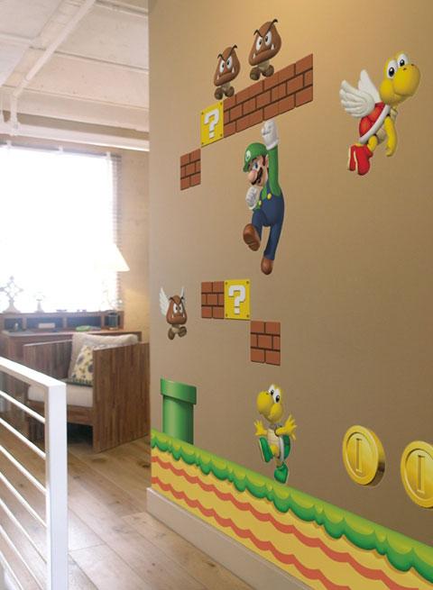 adhesivo de pared super mario