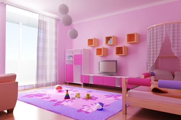 Dormitorio juvenil moderno niña