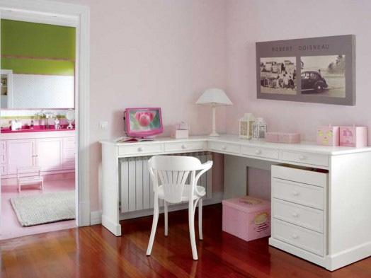 dormitorio niña escritorio