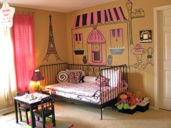 dormitorio niñas estilo parisino