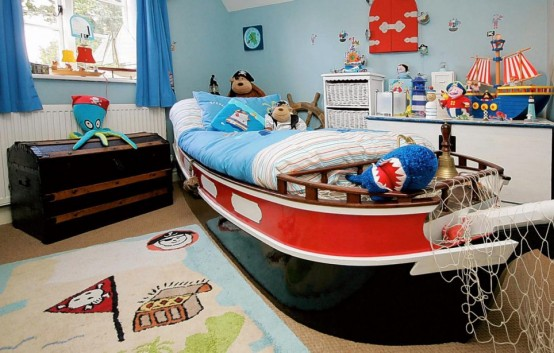 dormitorios infantiles niño piratas