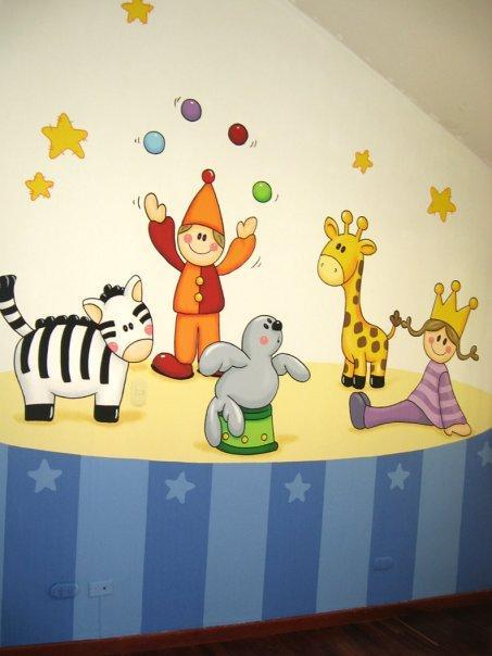 murales infantiles pared