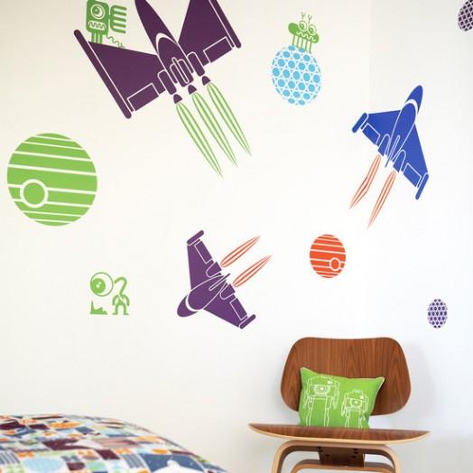 adhesivos decorativos de pared para niños