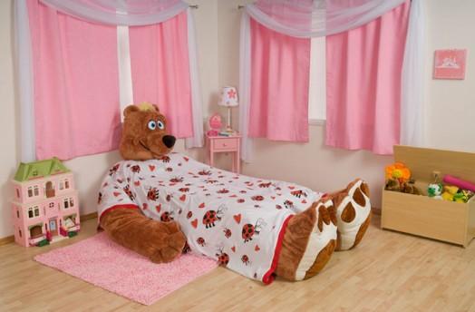 camas infantiles divertidas de felpa