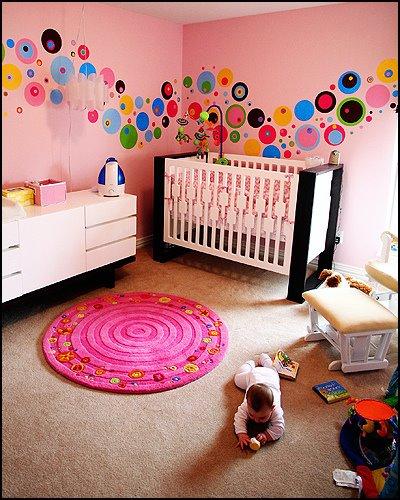 habitacion rosa para bebe
