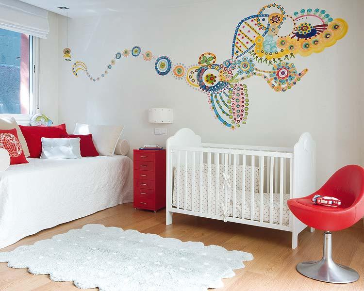 dormitorio de bebe compartido