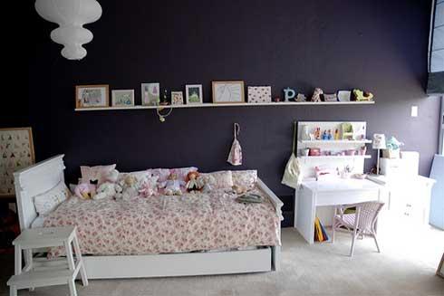 dormitorio infantil niñas color negro