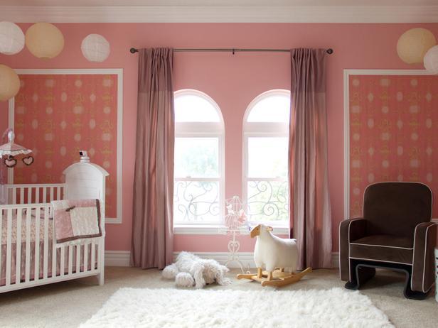 dormitorio de bebe rosa