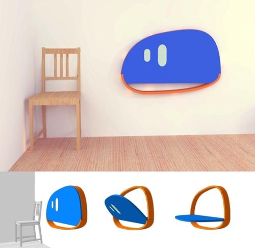 escritorio de pared infantil
